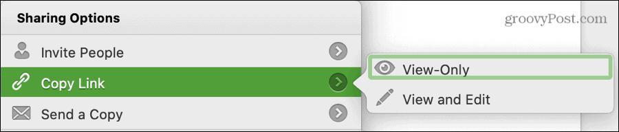 Copy Link Word Settings on Mac