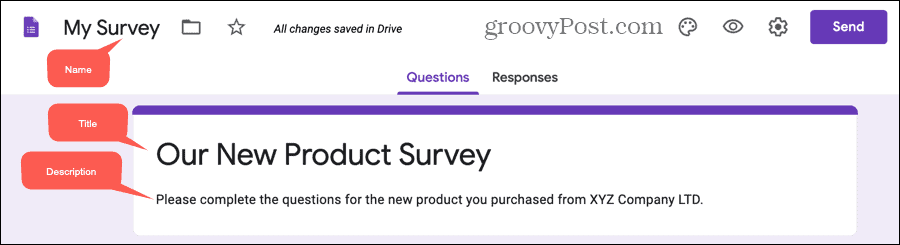 Create a Survey in Google Forms