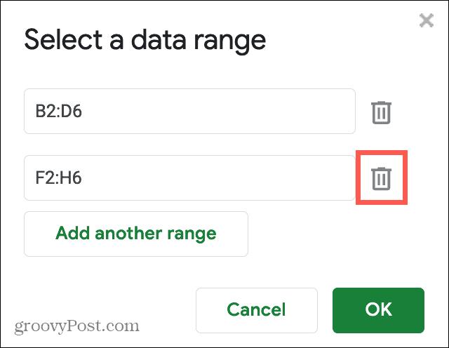Delete a Cell Range