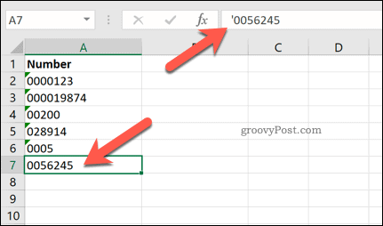Adding a leading apostrophe in Excel