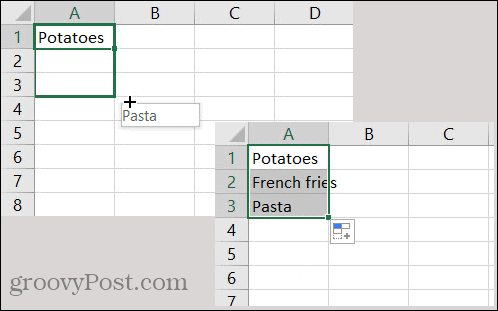 Excel AutoFill Custom List