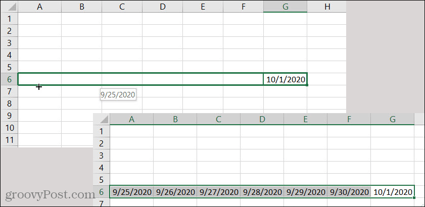 Excel AutoFill Date Backwards