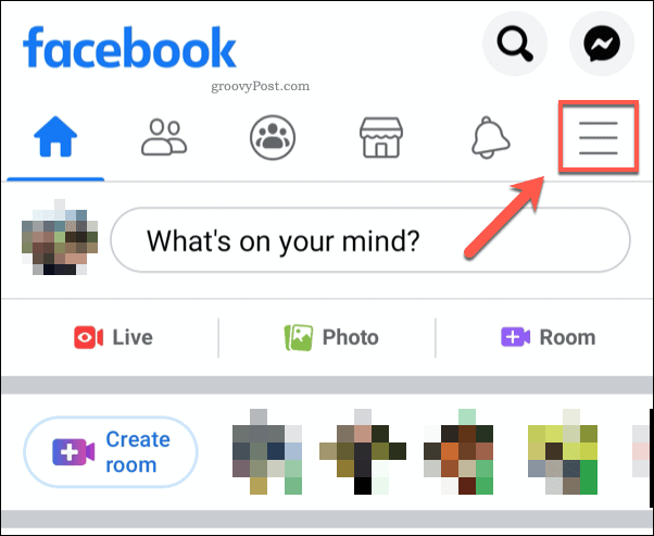 Facebook mobile hamburger menu icon