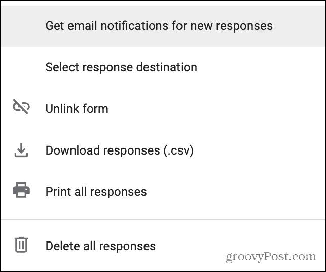 Google Forms Responses Get Email Alert