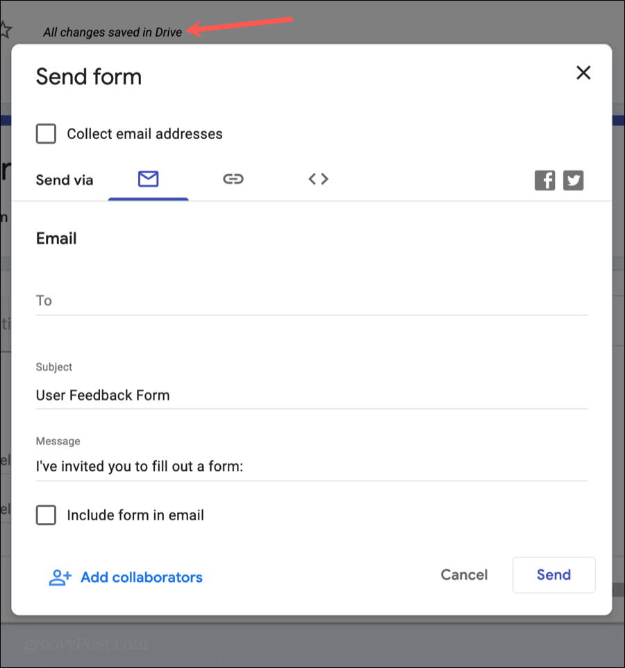 Google Forms Send Your Form