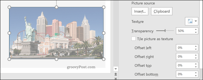 An example transparent image in PowerPoint