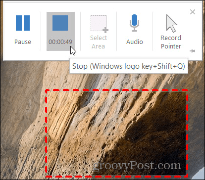Stop Screen Recording in PowerPoint