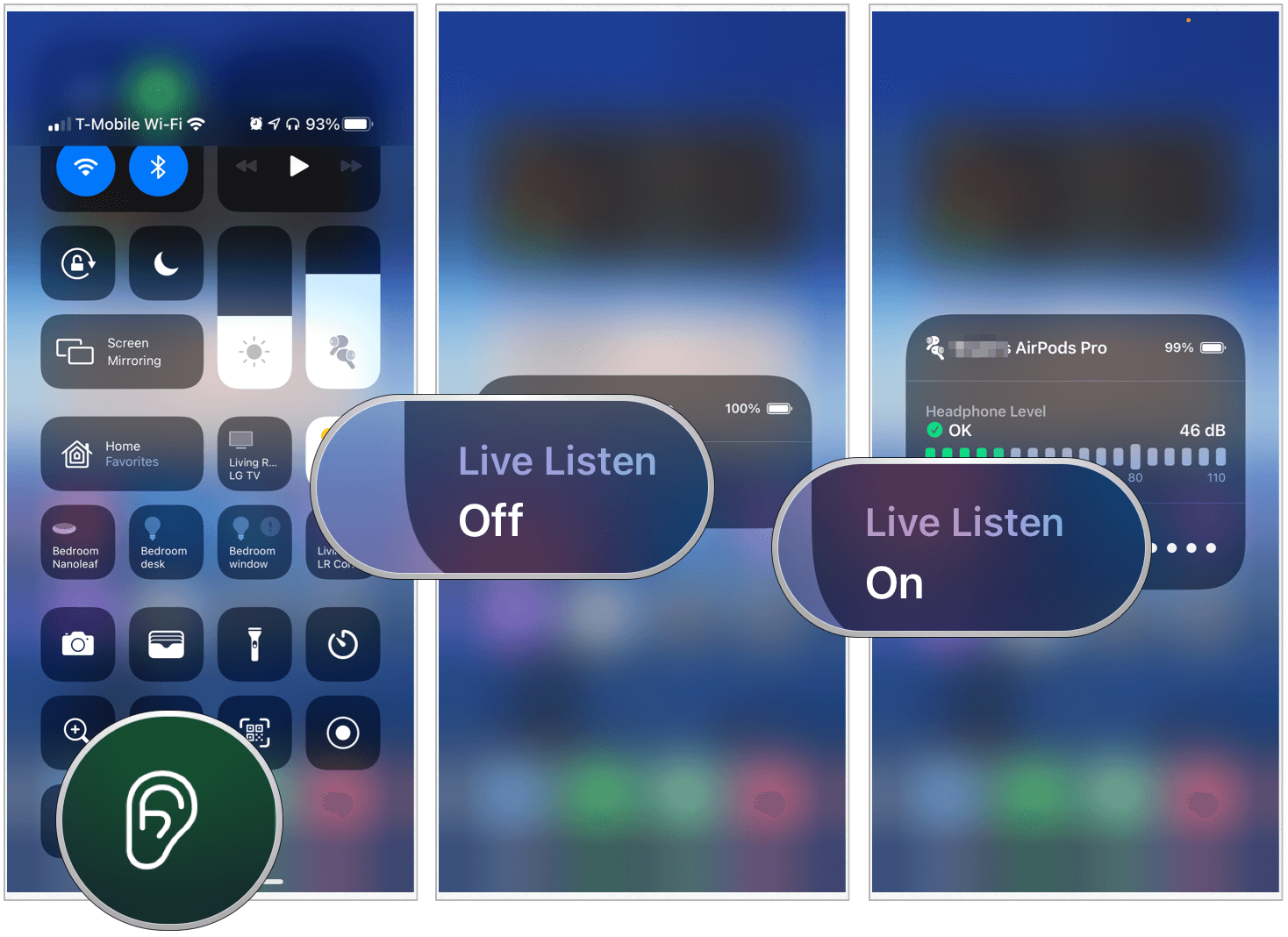 iPhone using Live Listen
