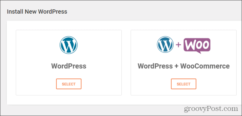 wordpress one click install