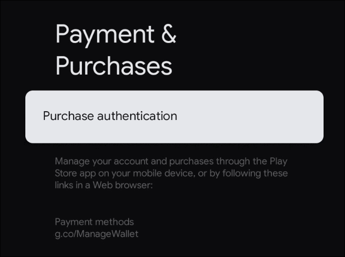 Purchase authentication