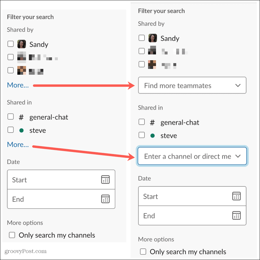 Advanced Search Filters More Options