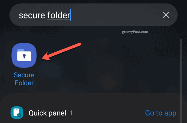 Secure Folder app drawer icon
