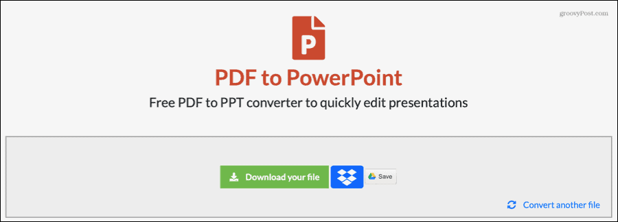 EasyPDF Converted PDF to PowerPoint