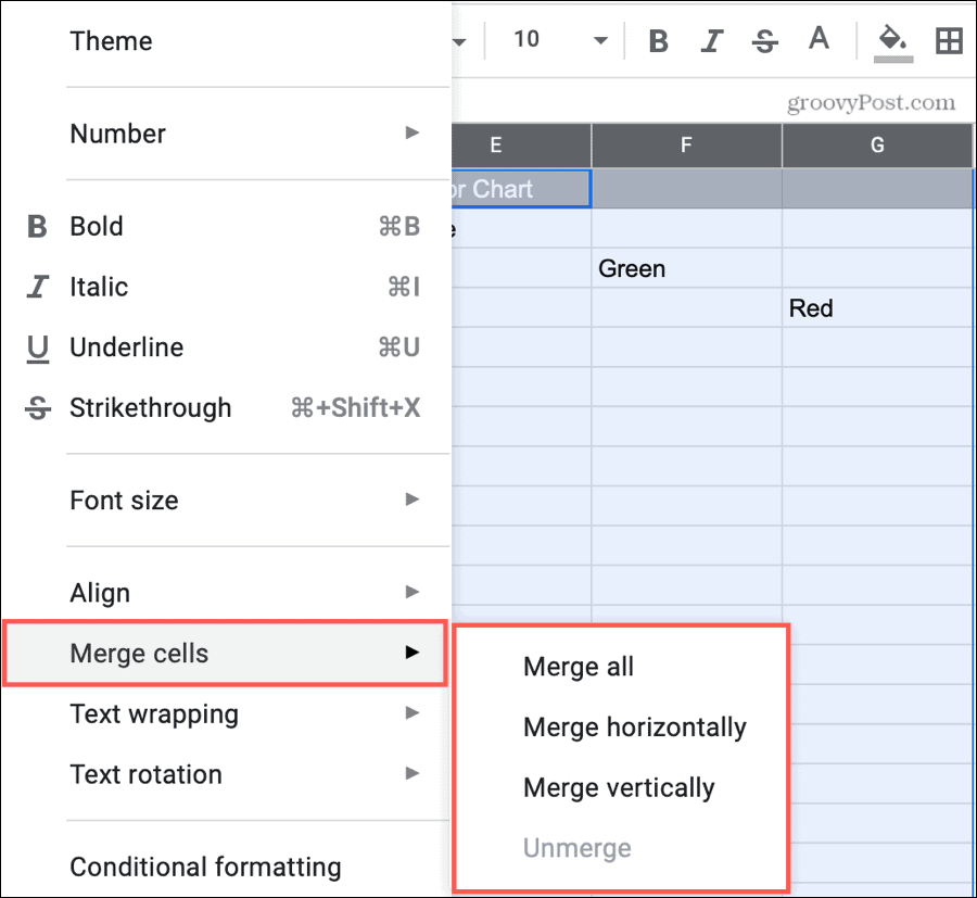 Merge Columns in Google Sheets
