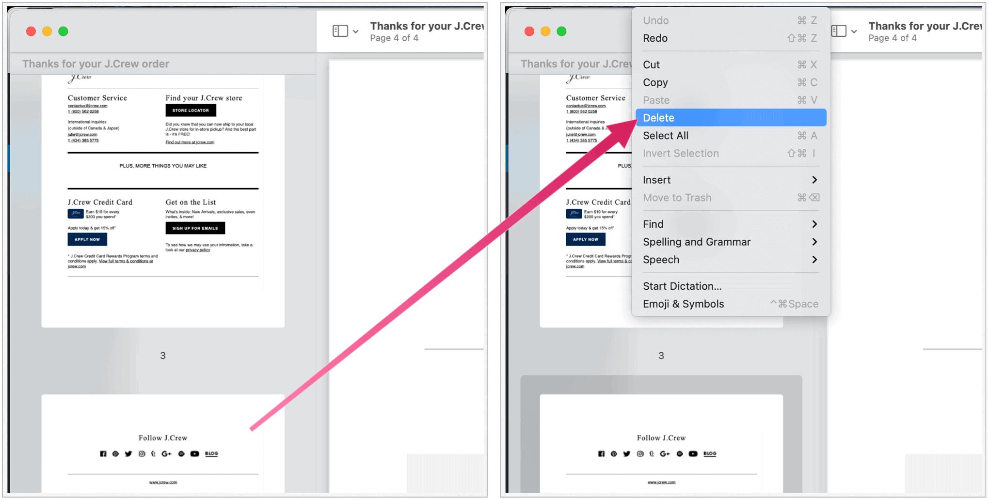 PDF delete