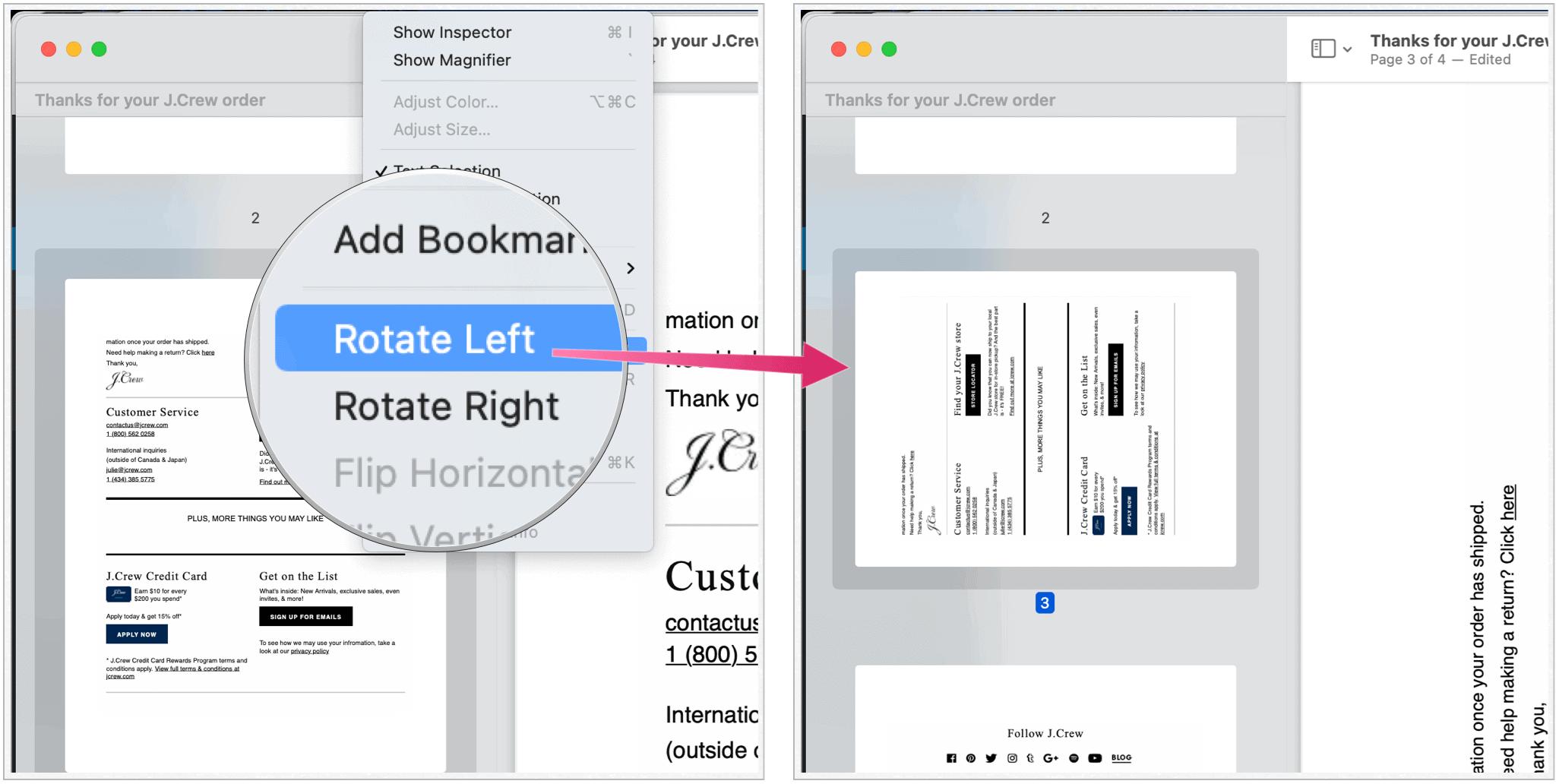PDF rotate page