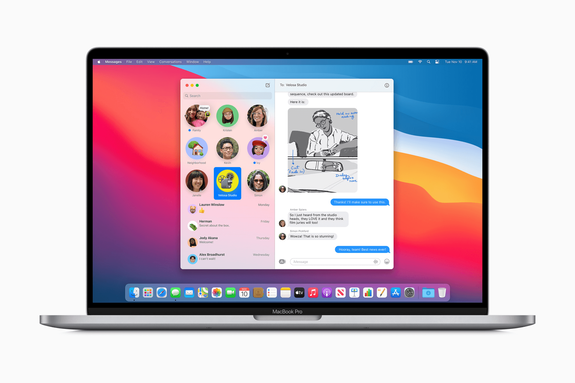 macOS Big Sur Messages