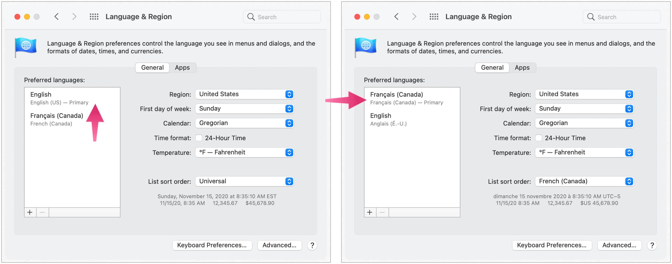 Mac change primary language
