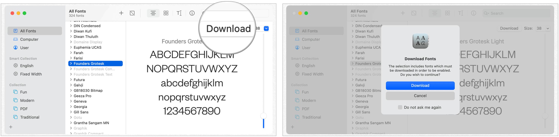 Mac download system font