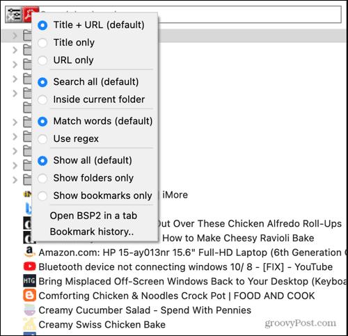 Bookmark Search Plus 2