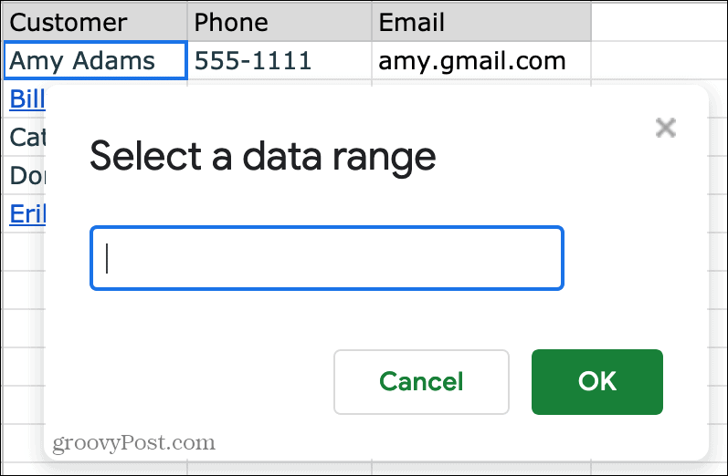 Link to a Cell or Range