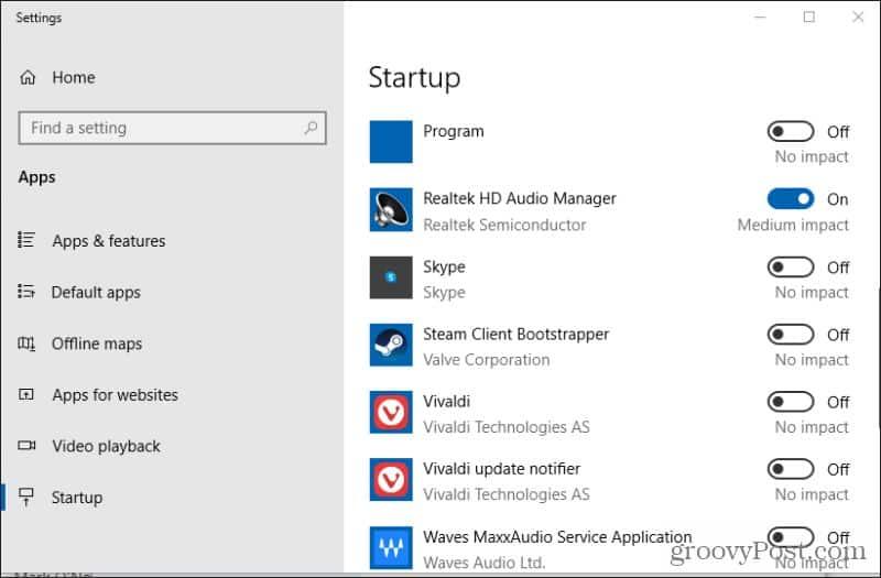 skype startup settings