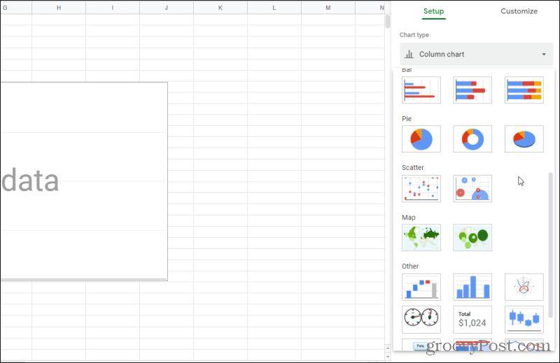 google sheets charting