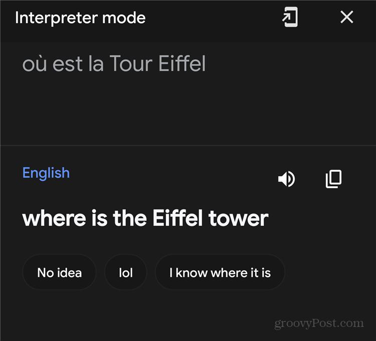 Google Assistant Interpreter Mode Auto