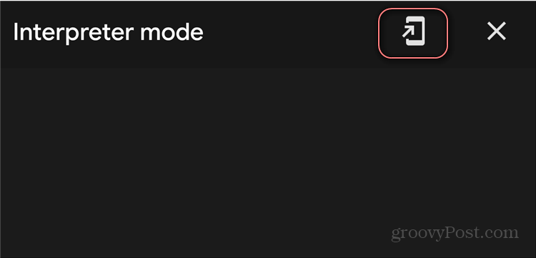 Google Assistant Interpreter Mode shortcut