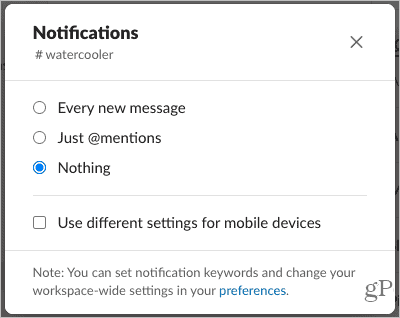 Channel-Specific Notifications in Slack Desktop