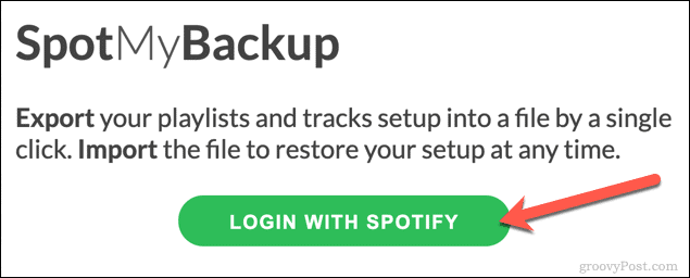 Signing in to SpotMyBackup
