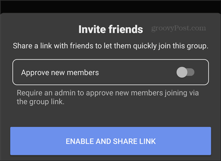 WhatsApp to Signal Groups enable link