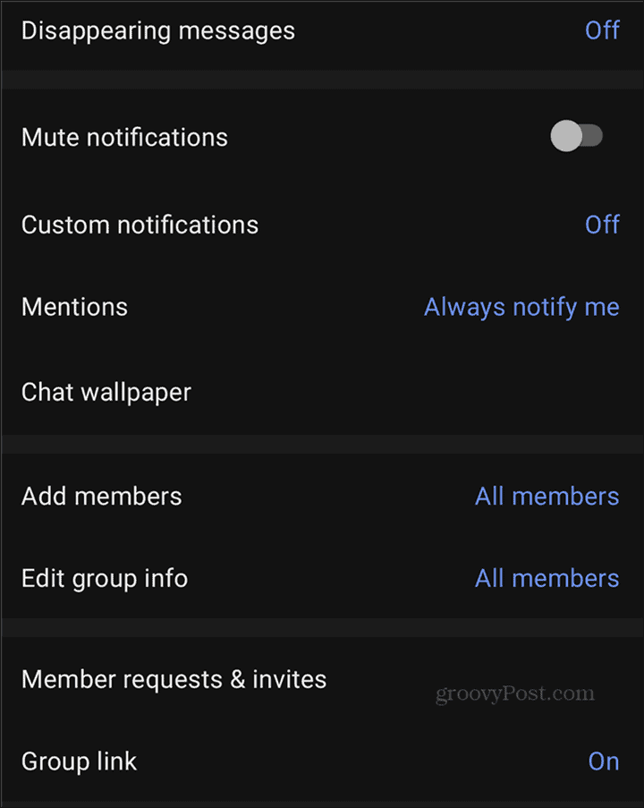 WhatsApp to Signal Groups options
