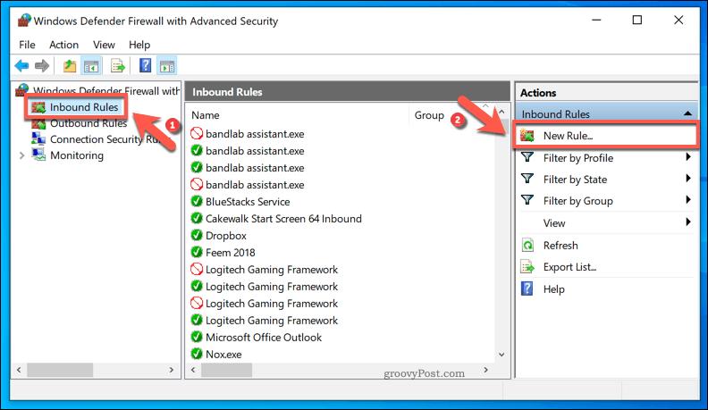Adding Windows Inbound Firewall Rule
