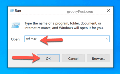 Launch the Windows Firewall MSC using Run