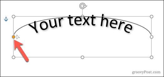 Changing a WordArt curve line