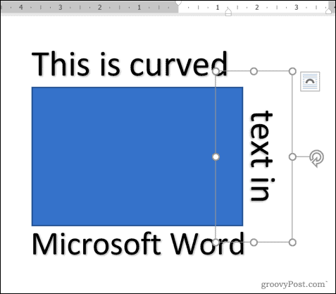 Adding WordArt text around a square shape in Word