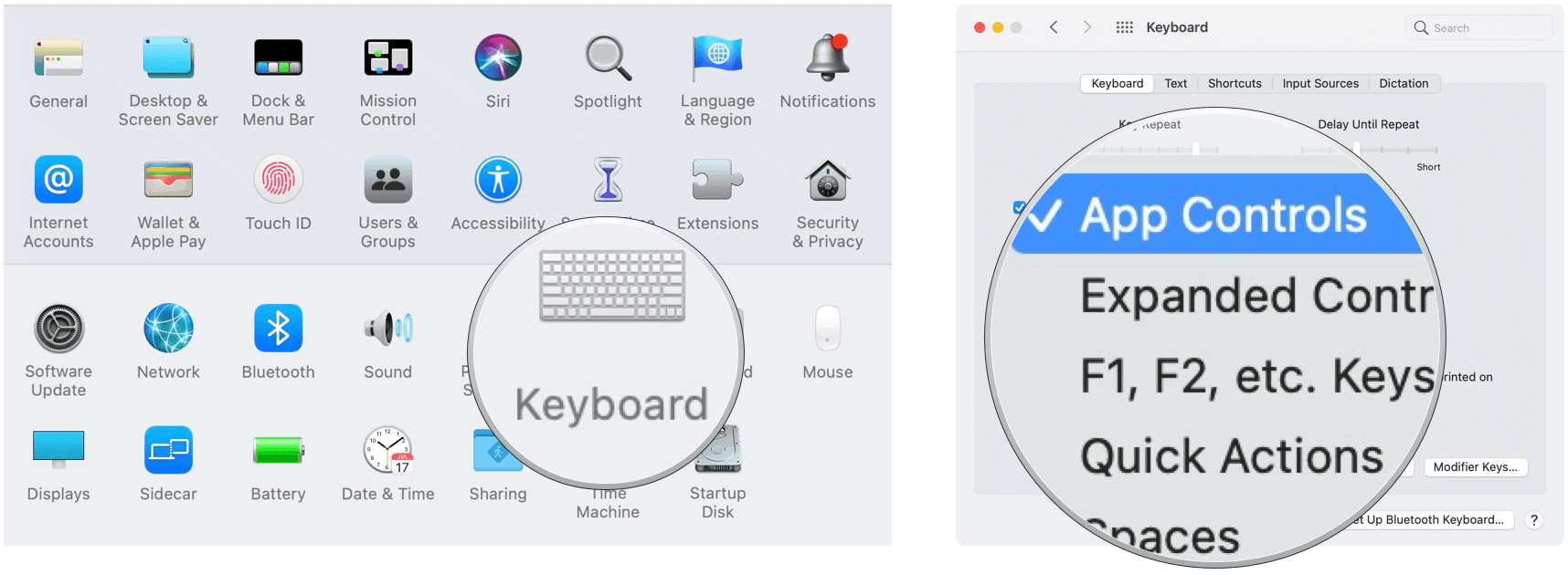 Touch Bar change default
