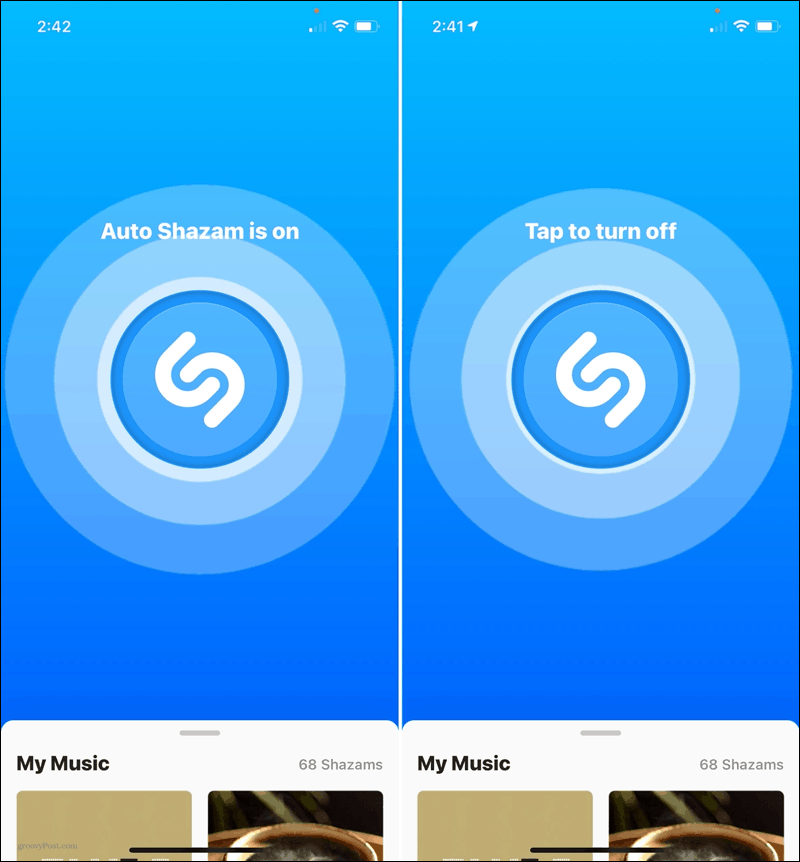 Auto Shazam On and Off