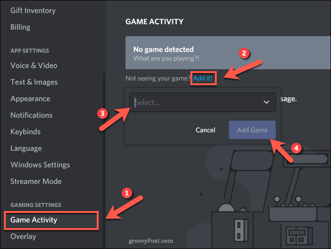 Adding a game to Discord