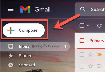 Composing a new email in Gmail
