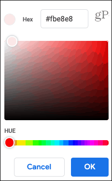 Choose a Custom Color
