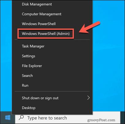 Launching Windows PowerShell