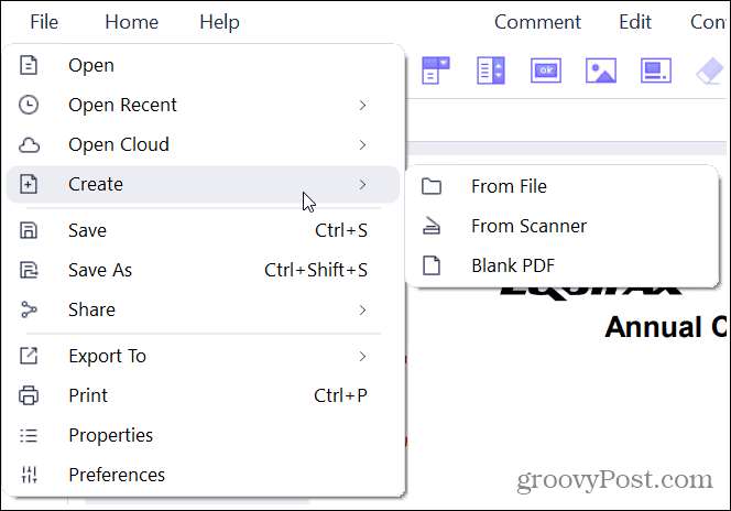 PDFElement 8 Create a PDF