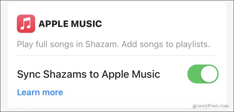 Sync Apple Music with Shazam