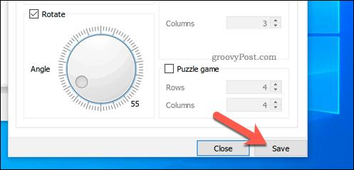 Saving rotations in VLC on Windows
