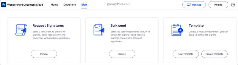 Wondershare Document Cloud Site