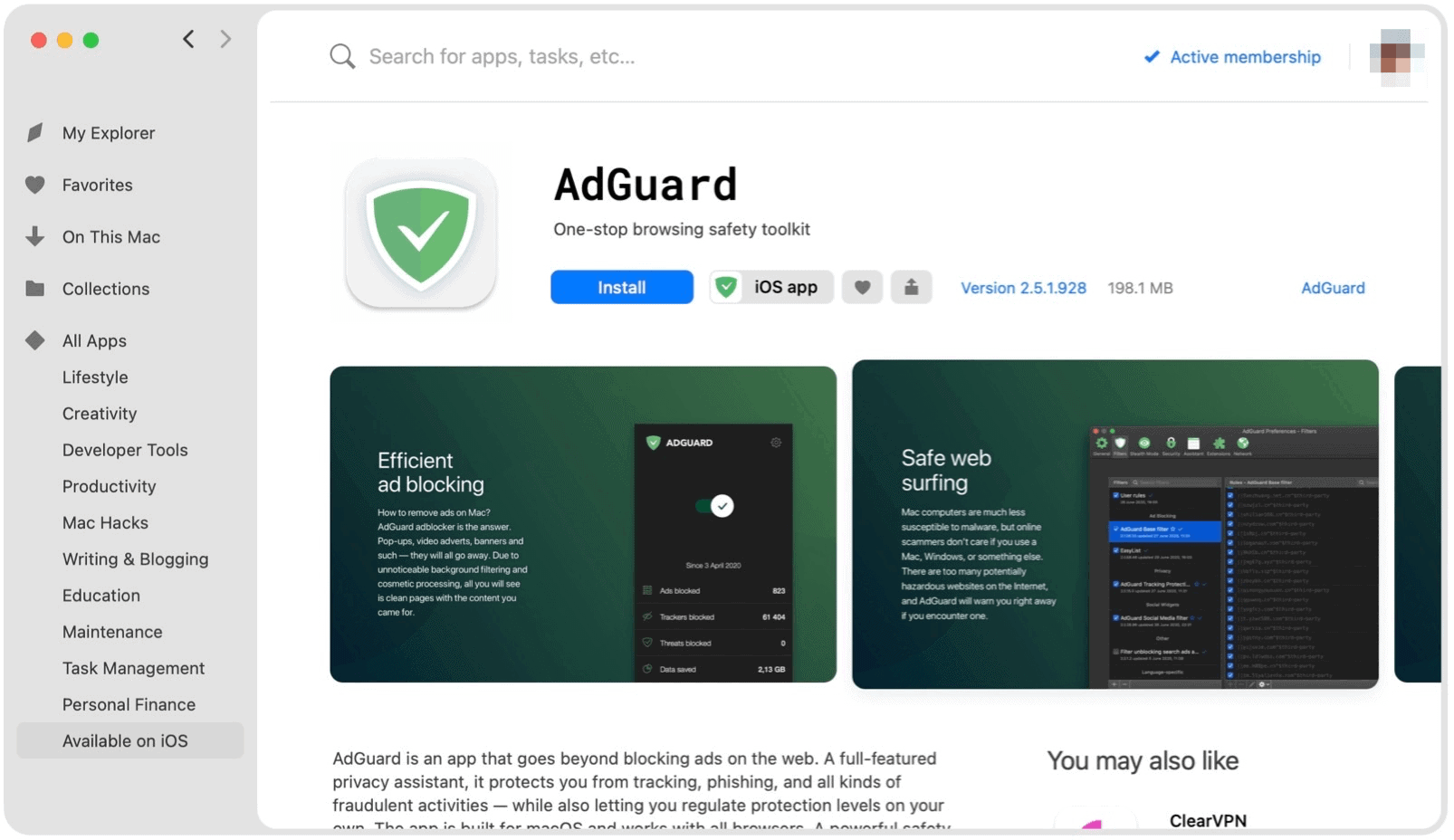 Setapp iPhone apps. Setapp example