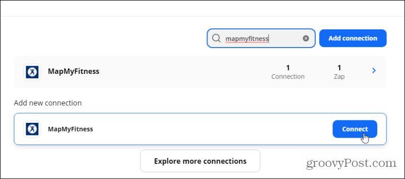 adding mapmyfitness