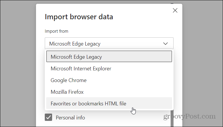 Import HTML file